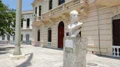 Fidel Castro Bust Statue Havana Cuba Stock Footage