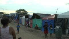 Busy Tent Community near Canoa, Ecuador Stock Footage