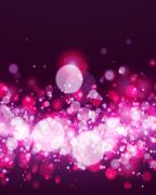 Abstract magenta bokeh background - stock illustration