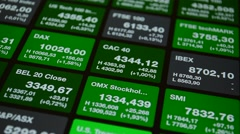 Stock exchange, stock market ticker Stock Footage
