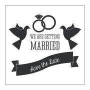 Married design. Wedding icon. Flat illustration - stock illustration