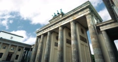 4K, Time Lapse, Brandenburg Gate, Berlin Stock Footage