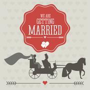 Married design. Wedding icon. Flat illustration Stock Illustration