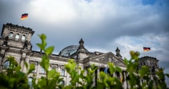 4K, Time Lapse, Reichstag Building, Berlin Stock Footage