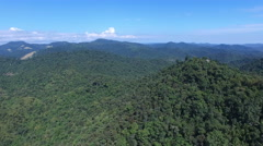 Flying Towards Lookout Stock Footage