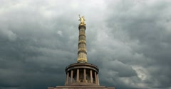 4K, Time Lapse, Victory Column, Berlin Stock Footage
