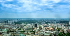 4K, Time Lapse, View From Berlin TV Tower, Berlin Stock Footage