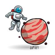 Space design. science icon. Isolated illustration , vector - stock illustration