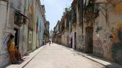 Havana Streets Girls Cuba Stock Footage