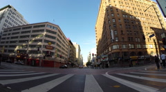Driving Hyper Lapse Downtown Los Angeles - stock footage