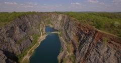 4K Aerial, Gorge Lom Velka Amerika, Czech Republic Stock Footage