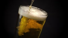 Beer Overflowing Star Filter Stock Footage