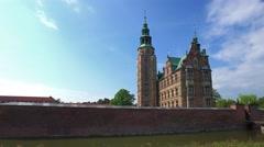 Rosenborg Castle, Copenhagen, Denmark, Europe - stock footage