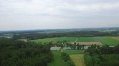 4K Aerial, Flying Over Bavarian Landscapes, Germany - stock footage