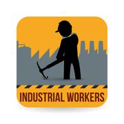Worker design. Industrial icon. White background , vector Stock Illustration