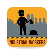 Worker design. Industrial icon. White background , vector - stock illustration