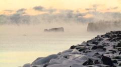 Silver Bay Mist Stock Footage