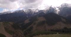 4K Aerial, High Tatra Mountain Range, Slovakia - stock footage