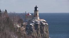 Split Rock Lighthouse Stock Footage