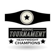 Boxing design. Tournament icon. White background , vector Stock Illustration