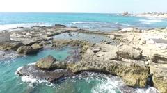 Caesara - Herod's Palace; Pool_ 01 - stock footage