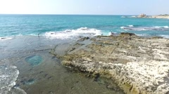 Caesarea - Herod's Palace; Pools_02 Stock Footage