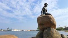 The Mermaid, sculpture in Copenhagen, Denmark Stock Footage