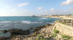 Caesarea - Roman columns Stock Footage