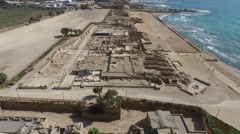 Caesarea - Mithraeum; City walls; Racetrack; Baths; Roman Amphitheater Stock Footage