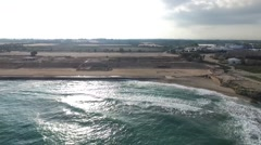 Caesarea - View from the sea; Racetrack; Baths; Marina; Jewish Quarter Stock Footage