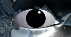 Chrome Head with alpha mask 4K - stock footage