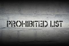 Prohibited list Stock Illustration
