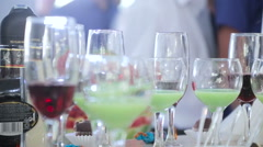 Delicious Candy bar at a wedding Stock Footage