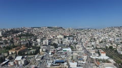 Nazareth - Modern City; French Hospital; Basilica of the Annunciation_01 Stock Footage