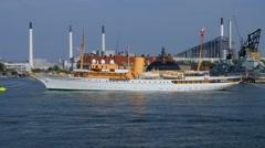 The Danish Royal Yacht Dannebrog, Copenhagen Harbour, Copenhagen, Denmark, Eu Stock Footage