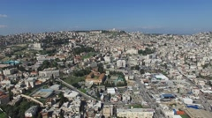 Nazareth - Modern City; French Hospital; Basilica of the Annunciation  03 Stock Footage