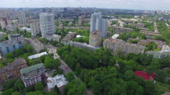 Aerial shot ff Kiev - stock footage