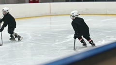 Training Slap Shot - stock footage