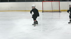 Mite Hockey Stock Footage