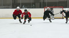 Hockey Kids Stock Footage