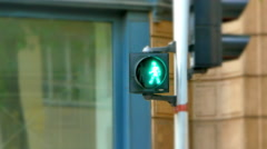 4K Pedestrian Crossing Light Sign, Stop and Go Crosswalk Warning Stock Footage