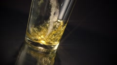 Beer Glass Pour Star Filter Stock Footage