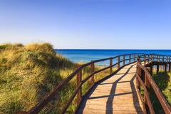 The Regional Natural Park Dune Costiere. BRINDISI (Apulia)-ITALY- Stock Photos