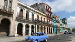 Havana Cuba Paseo de Marti - stock footage
