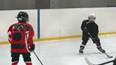 Young Hockey Talent - stock footage