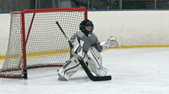 Child Goalkeeper - stock footage