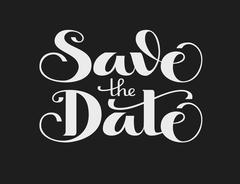 Save the Date. Vector lettering Stock Illustration
