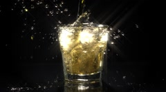Scotch Glass Pour Star Filter Stock Footage