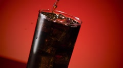Cola Soda Splashing in Ice - stock footage