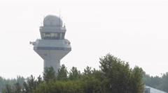 Air trafic control tower - stock footage